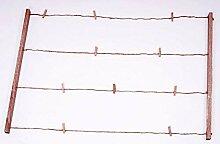 Spetebo Holz Bilderrahmen mit Seil und Klammern -