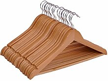 Spetebo Holz Kleiderbügel 20er Pack - mit Hosenstange und drehbar - 20 Holzbügel