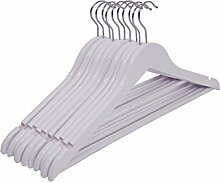 Spetebo Holz Kleiderbügel in weiß - 20 Stück -