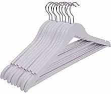 Spetebo Holz Kleiderbügel in weiß - 50 Stück -