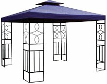 Spetebo Pavillon Ersatzdach 3x3 Meter in blau -