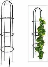 Spetebo Rank Obelisk aus Metall - 200 x 40 cm -