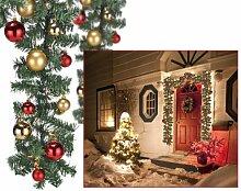 Spetebo Weihnachtsgirlande 5m mit 80er LED