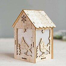 SPFAZJ Weihnachten aus Holz Haus kreativ Holz