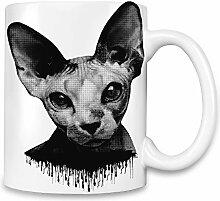 Sphynx Cat Illustration Kaffee Becher