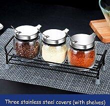 Spice Speicher Kitchen Spice Jar Set, Klarglas