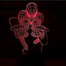 Spiderman 3D Optische Täuschungslampe für Kinder