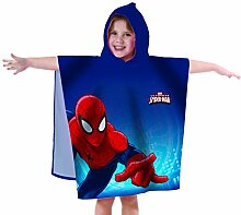 Spiderman Badeponcho, Blau