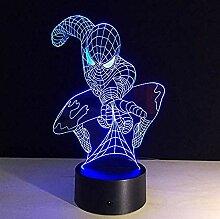 Spiderman Form 3d LED Nachtlicht Acryl Lampe 7