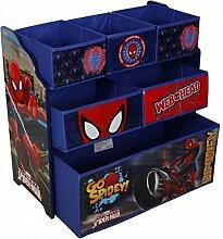 Spiderman Kinderregal aus Holz mit Aufbewahrungsboxen Kindermöbel Aufbewahrung