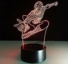 Spiderman Nachtlicht 3D Illusion Lampe, LED