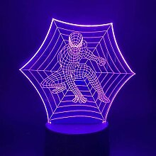 Spiderman Optical 3D Nachtlicht Lampe LED