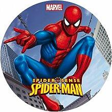 Spiderman Runde Torten Druck Bild auf A4