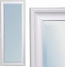 Spiegel 160x60cm Wandspiegel BAROCK Pur-Weiß Copia HOLZRAHMEN UND FACETTE