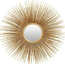 Spiegel 'Sonne' mit goldfarbenem