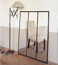 Spiegel aus Metall mit Alterseffekt , 95x120