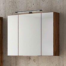 Spiegel Badschrank im Wildeiche Dekor LED