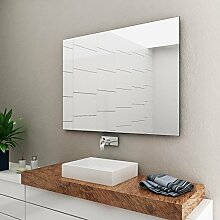 Spiegel -Badspiegel -Wandspiegel 6mm - Kanten fein poliert - inkl. verdeckter Halterungen quer oder hochkant Montage möglich 130 cm Breit x 80 cm Hoch
