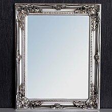 Spiegel Barock Silber-Antik LEONIE 47x37cm