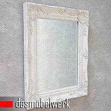 Spiegel Barockspiegel 'TURIN' 47x37cm Wandspiegel Badspiegel antik weiss/silber