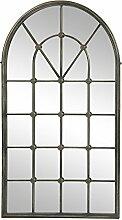 Spiegel CHATEAU antik Fenster Wandspiegel Rundbogenfenster Landhausstil