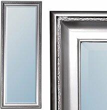 Spiegel COPIA 160x60cm Silber-Antik Wandspiegel Barock Holzrahmen und Facette