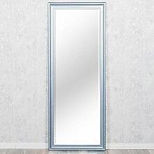 Spiegel COPIA 180x70cm Frozen - Silber Wandspiegel Barock Holzrahmen und Facette