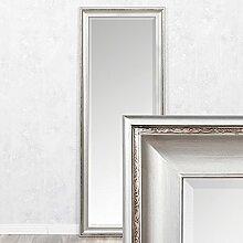 Spiegel COPIA 180x70cm Silber-Antik Wandspiegel Barock Holzrahmen und Facette