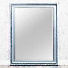 Spiegel COPIA 90x70cm Frozen - Silber Wandspiegel Barock Holzrahmen und Facette