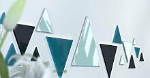Spiegel Déco de Büro Original Schwarz und Gelb Wunschtext Bleu Canard / Noir / Bleu Canard