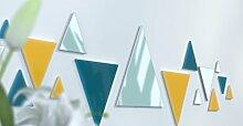 Spiegel Déco de Büro Original Schwarz und Gelb Wunschtext Bleu Canard / Jaune / Bleu Canard