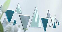 Spiegel Déco de Büro Original Schwarz und Gelb Wunschtext Bleu Canard / Gris Argen