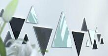 Spiegel Déco de Büro Original Schwarz und Gelb Wunschtext Gris Foncé / Noir / Jaune