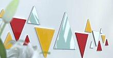Spiegel Déco de Büro Original Schwarz und Gelb Wunschtext Jaune / Rouge / Bleu Canard
