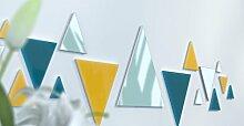 Spiegel Déco de Büro Original Schwarz und Gelb Wunschtext Jaune / Bleu Canard / Gris Foncé