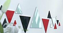 Spiegel Déco de Büro Original Schwarz und Gelb Wunschtext Noir / Rouge / Jaune