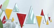 Spiegel Déco de Büro Original Schwarz und Gelb Wunschtext Rouge / Jaune / Rouge