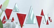Spiegel Déco de Büro Original Schwarz und Gelb Wunschtext Rouge / Rouge / Gris Argen