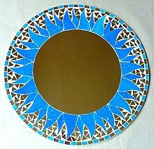 Spiegel Dekospiegel Mosaikspiegel Wandschmuck Wandspiegel rund 40 cm #45