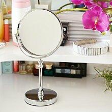 Spiegel Desktop-doppelseitige Kosmetikspiegel Metal6 Zoll Spiegel Vergrößerung Spiegel-A