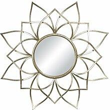 Spiegel Eisen arabischen Sonne gold 85x 85cm
