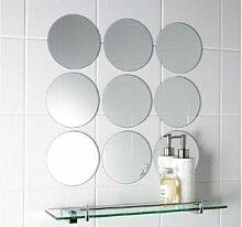 Spiegel Fliesen Zehn - 10cm x 10cm Kreis Fliesen 3mm dick