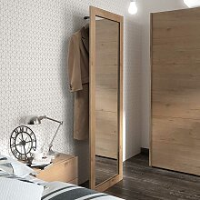 Spiegel Garderobe in Eiche White Wash massiv 200