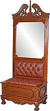 Spiegel Garderobe Mahagoni Garderobenständer