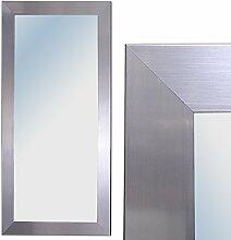 Spiegel GINOS 100x50cm Glanz-Silber Design Rahmen Wandspiegel