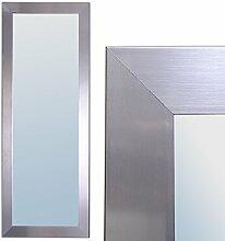 Spiegel GINOS 140x50cm Glanz-Silber Design Rahmen Wandspiegel