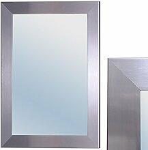 Spiegel GINOS 70x50cm Glanz-Silber Design Rahmen Wandspiegel