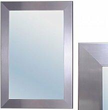 Spiegel GINOS 90x70cm Glanz-Silber Design Rahmen Wandspiegel