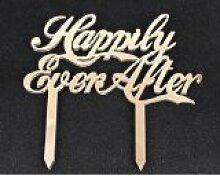 Spiegel Gold Acryl Hochzeit Tortenaufsatz Party Dekoration Cupcake-Ständer (Spiegel Gold–Happily Ever After)