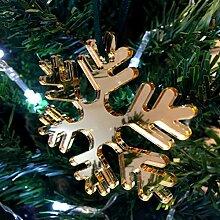Spiegel Gold eisige Schneeflocken Christbaumkugel,